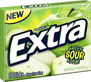 Extra green sour apple 40.5g-15ks