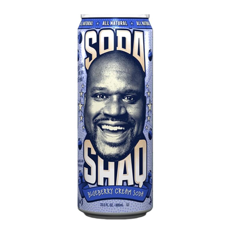 Arizona Soda Shaq Blueberry cream plech. 695ml