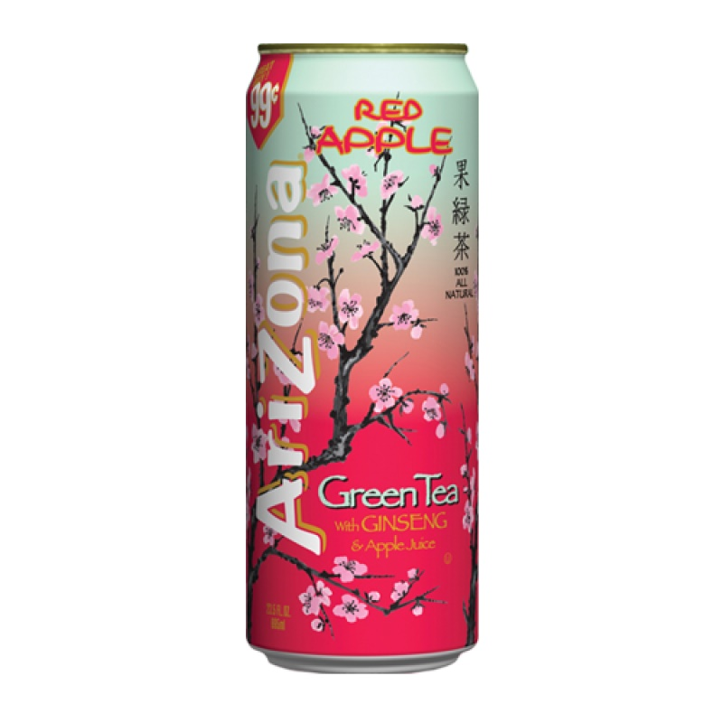 Arizona Green Tea with red apple plech. 680ml