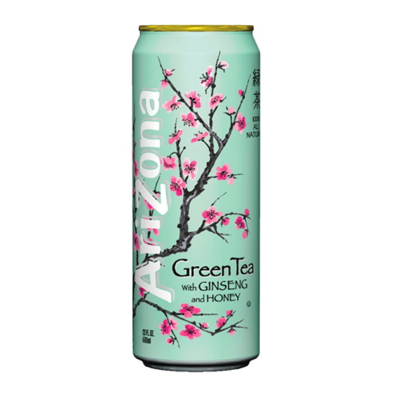 Arizona Green tea with ginseng and honey plech. 680ml