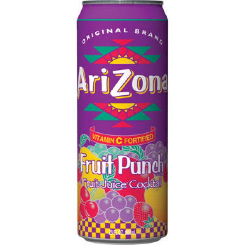 Arizona Friut Punch plech. 680ml