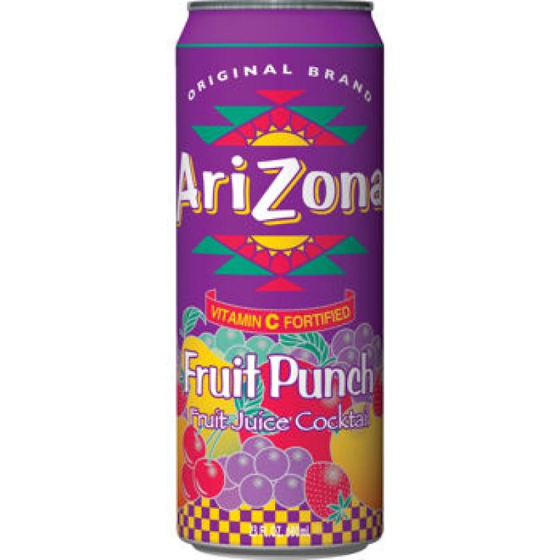 Arizona Friut Punch plech. 680ml