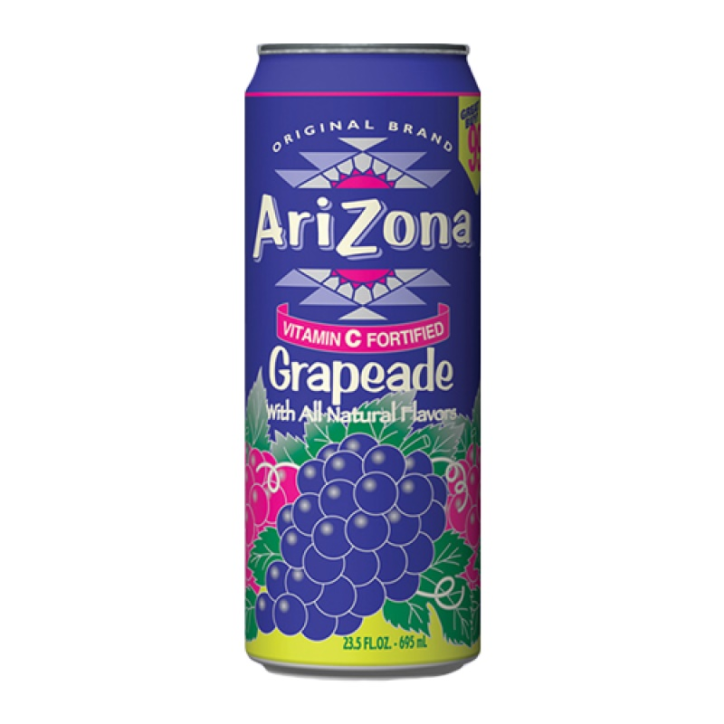 Arizona Grapeade plech. 680ml