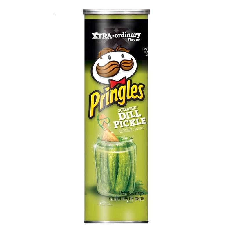Pringles dill pickle 158g