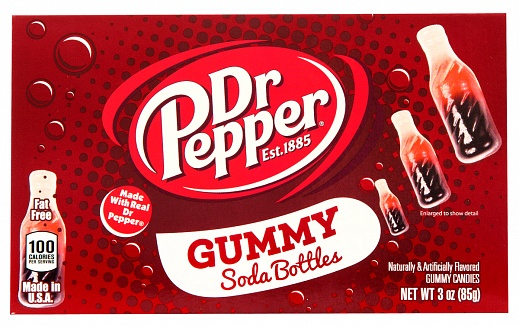 Dr. Pepper Gummy Soda Bottles 127g