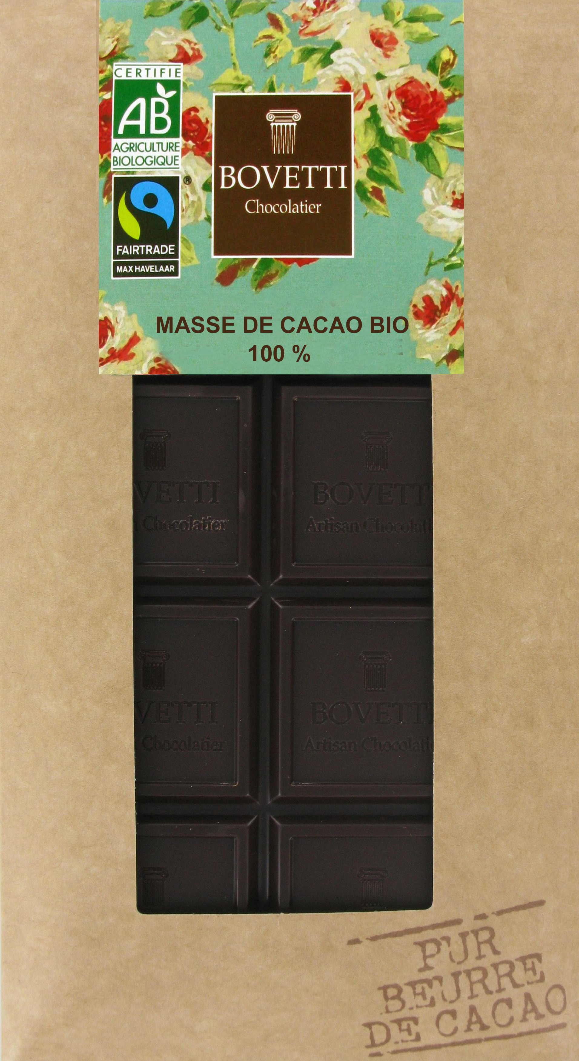 Bio Fair trade horká čokoláda 100% 100g