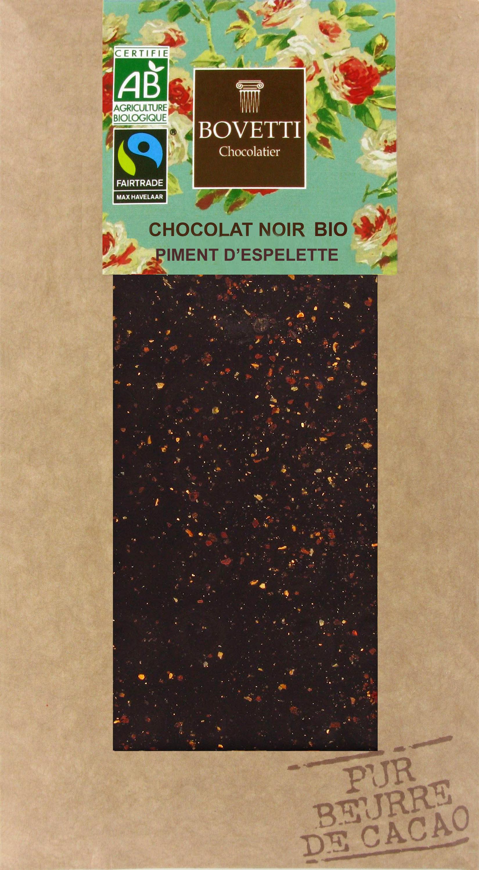 Bio Fair trade horká čokoláda s chilli z Espelette 100g