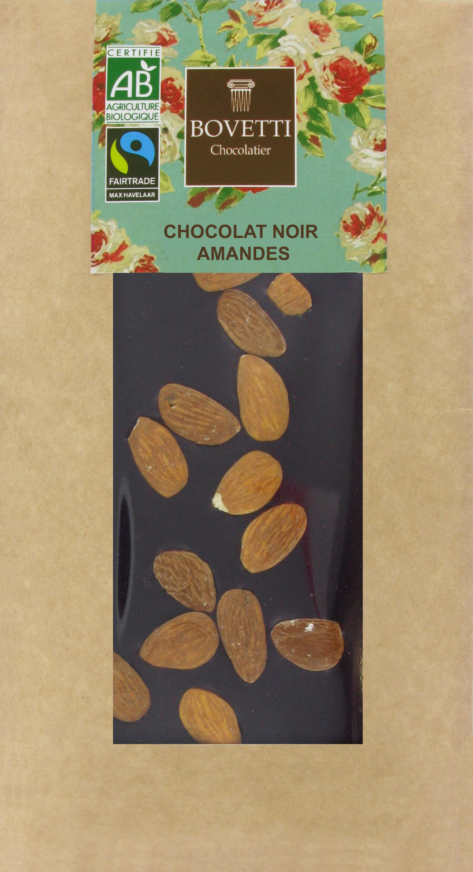 Bio Fair trade horká čokoláda s mandľami 100g