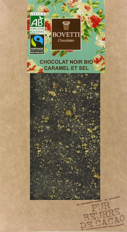 Bio Fair trade horká čokoláda so slaným karamelom 100g