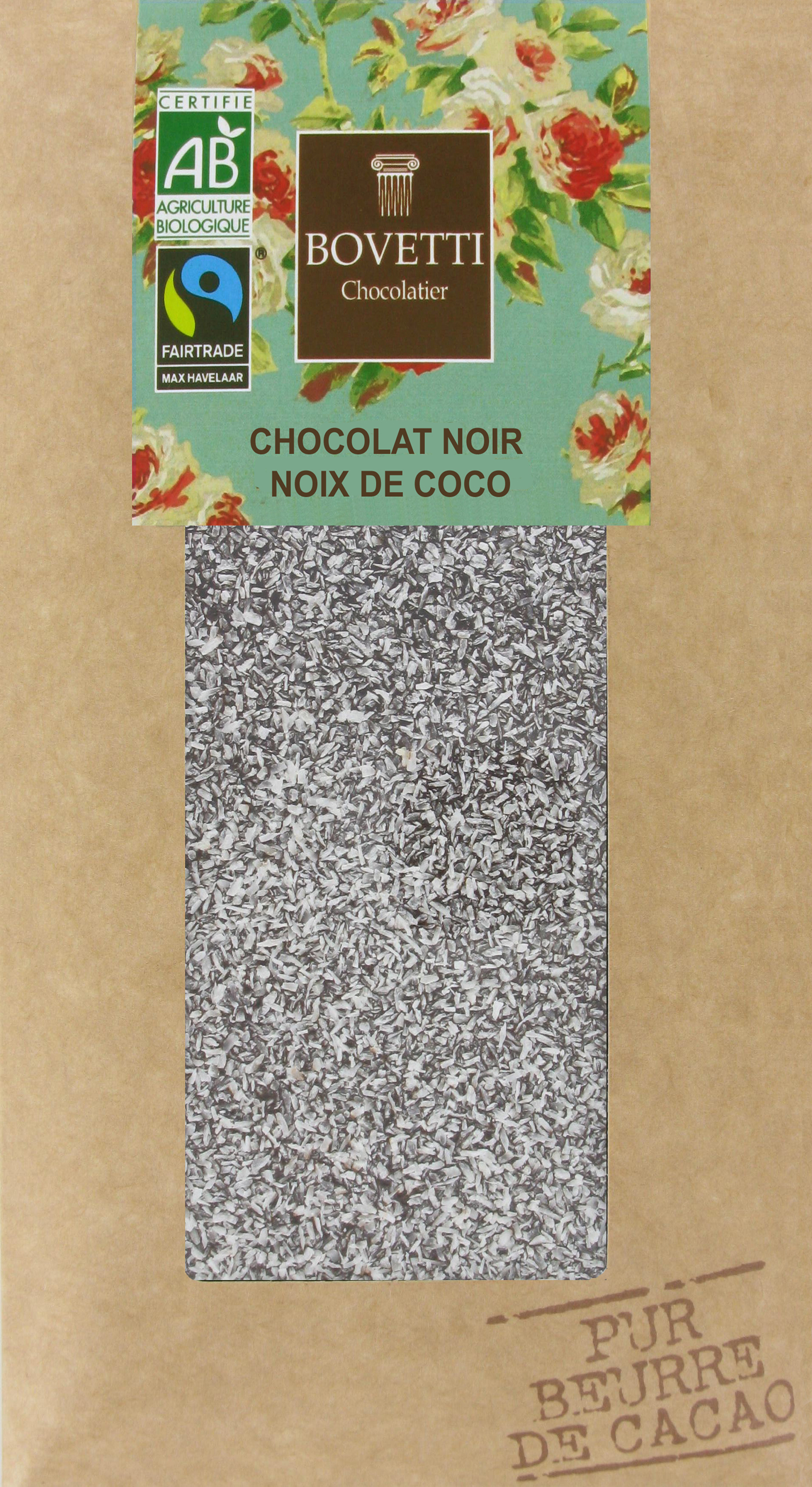 Bio Fair trade jemne horká čokoláda s kokosom 100g