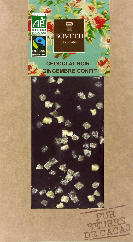 Bio Fair trade horká čokoláda kandizovaný zázvor 100g