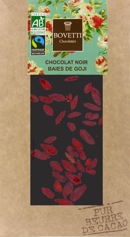 Bio Fair trade horká čokoláda s goji 100g