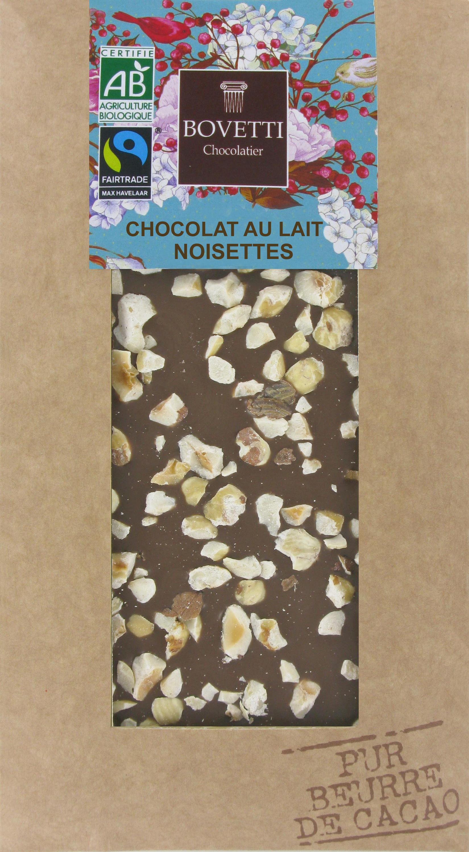 Bio Fair trade mliečna čokoláda s lieskovými orieškami 100g