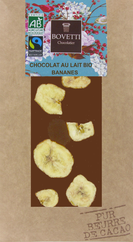 Bio Fair trade mliečna čokoláda s banánom 100g