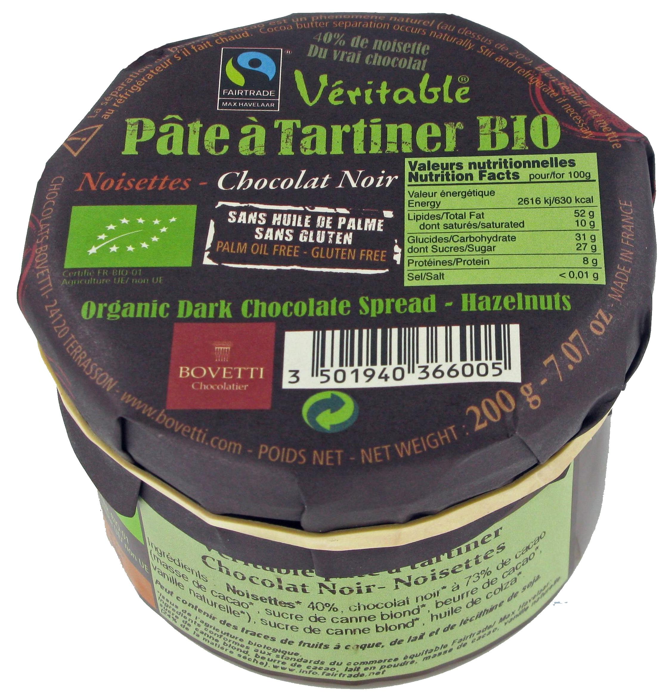 Bio Fair trade čokoládová nátierka horká 200g