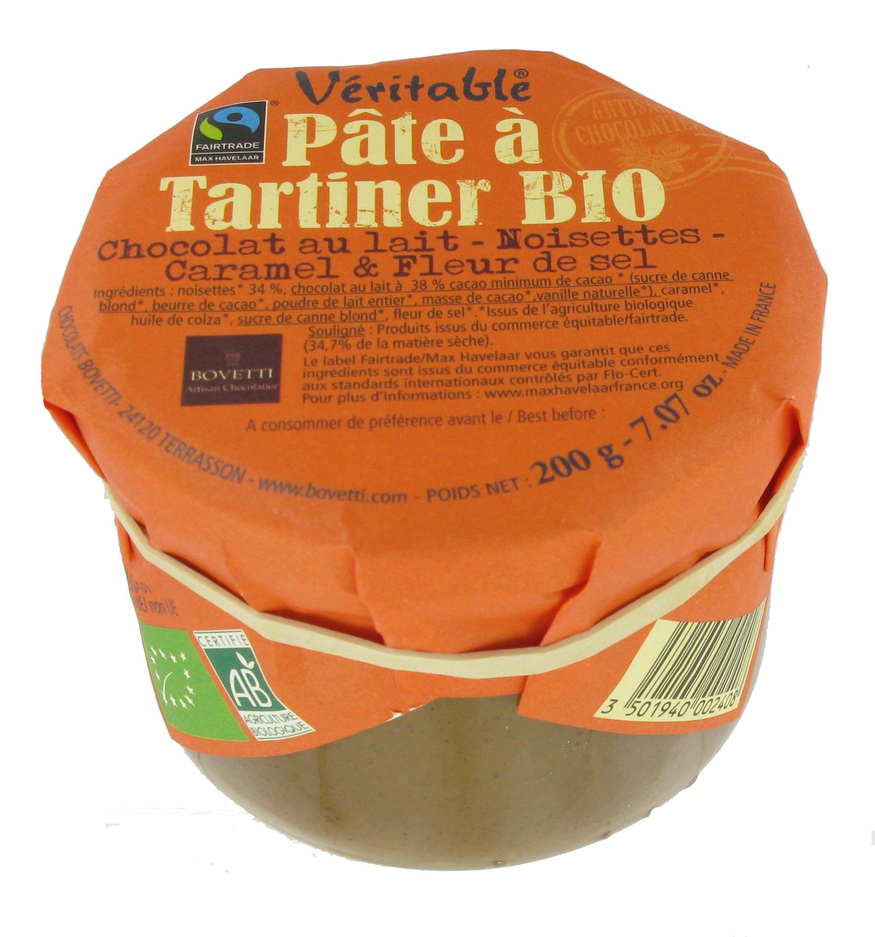Bio Fair trade čokoládová nátierka slaný karamel 200g