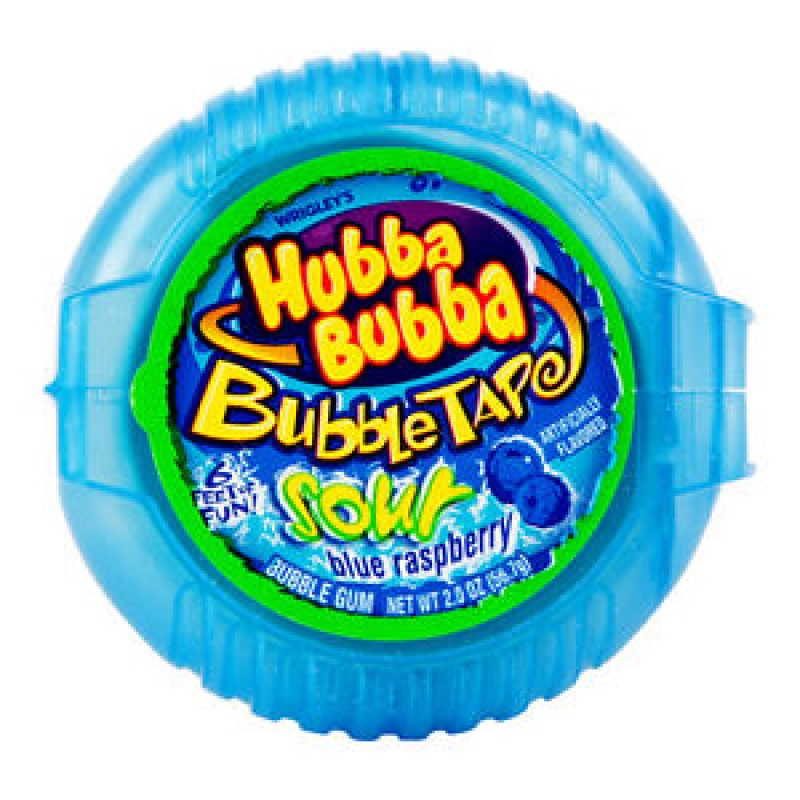 Hubba Bubba Sour Blue Raspberry bubble Tape 56,7 g