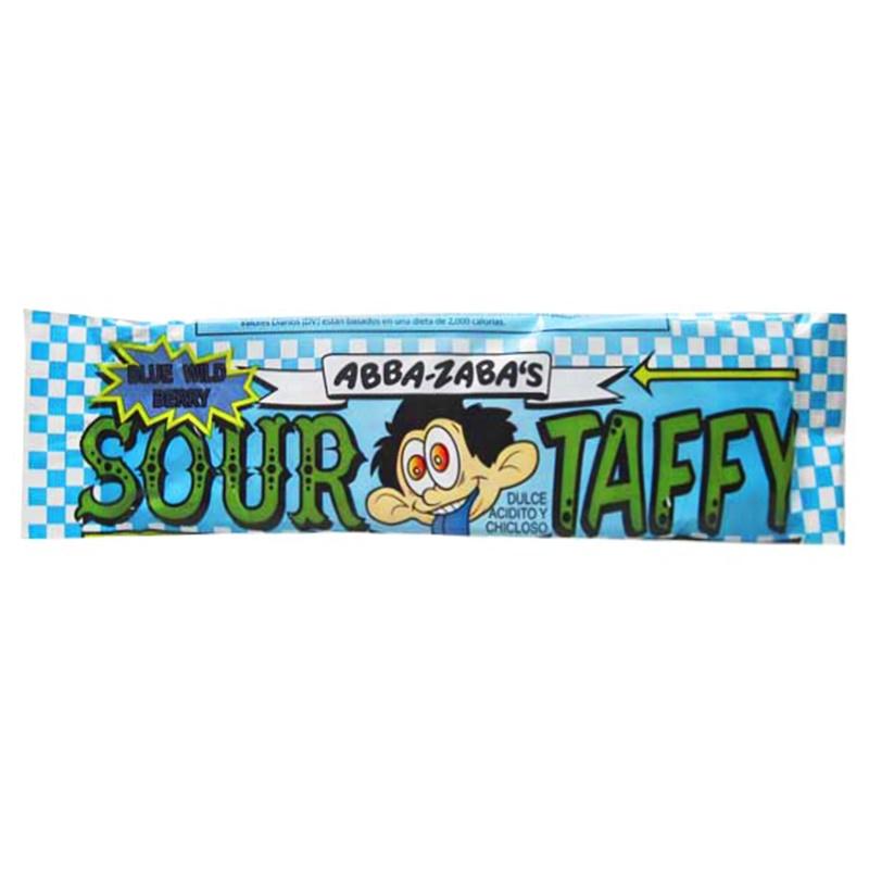 Abba Zabba Sour Taffy Blue Raspberry Bar 51 g