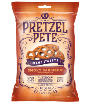 Pretzel Pete Mini Twists Smoky Barbeque 100 g