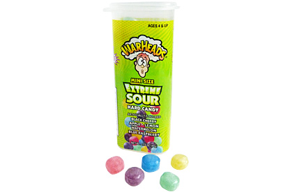 Warheads Juniors Mini Size Extreme Sour Hard Candy 49 g