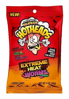Warheads Hothead Extreme Heat Worms 142 g