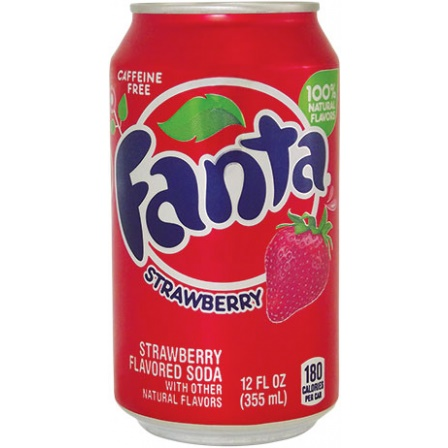 Fanta Strawberry plech.355ml