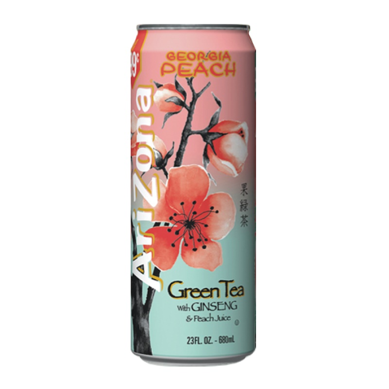 Arizona Green Tea with Ginseng Peach 680 ml