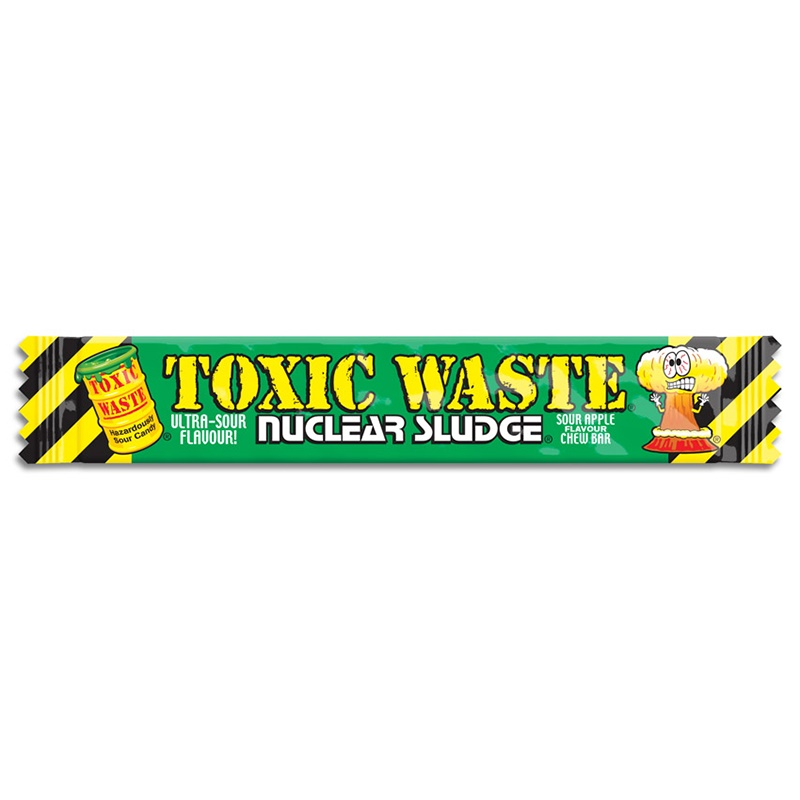 Toxic Waste Nuclear Sludge Chew Bar Sour Green Apple 20 g