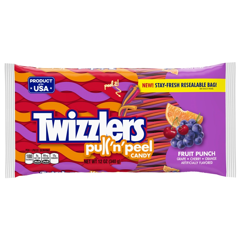 Twizzlers Fruit Punch Pull N´ Peel 340 g