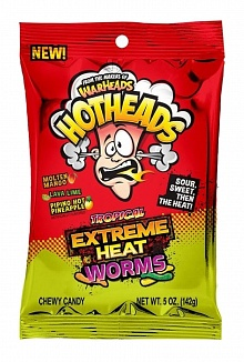 Warheads Hothead Extreme Heat Worms Tropical 142 g