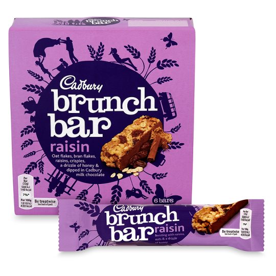 Cadbury Brunch Bar Raisin 6 Pack 192g