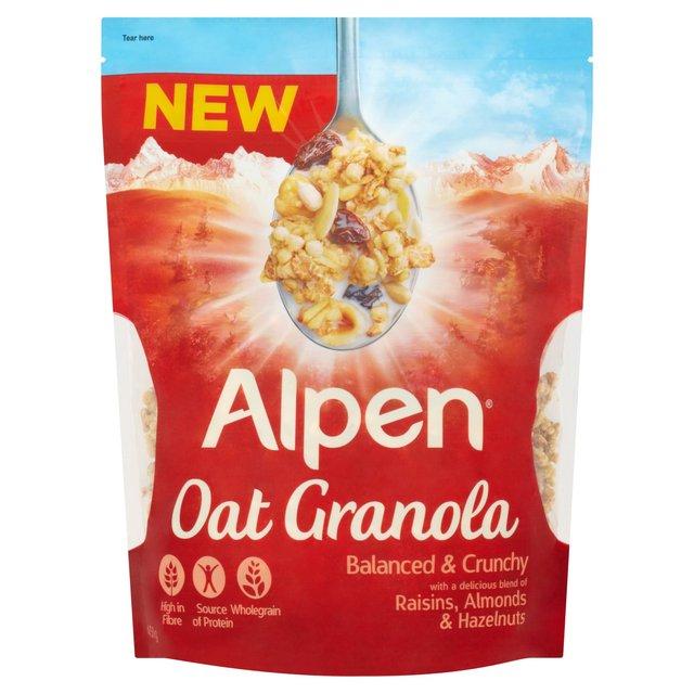 Alpen Oat Granola Raisins, Almonds & Hazelnuts 450g