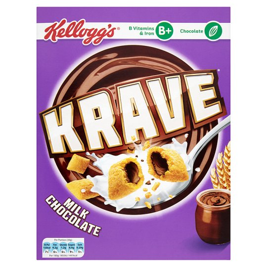 Kellogg´s Krave Milk Chocolate Cereal 375g