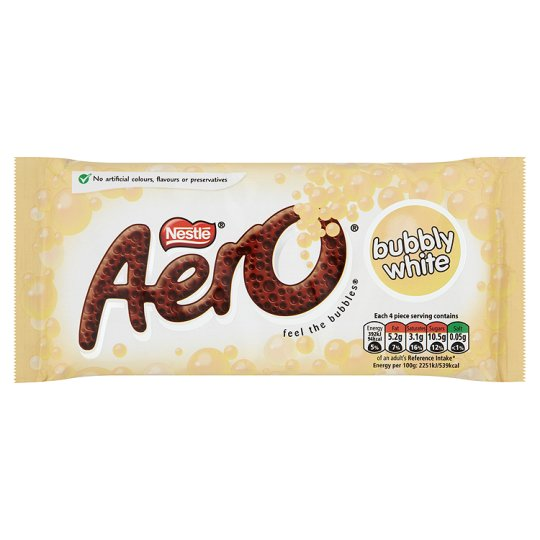 Aero Bubbly White Chocolate Bar 100g