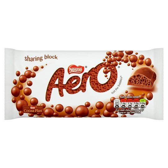 AERO Milk Chocolate Bar 100g