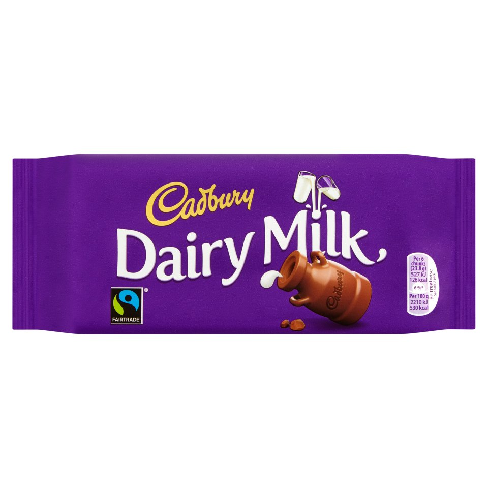 Cadbury Dairy Milk Chocolate Bar 95g