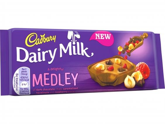 Cadbury Dairy Milk Medley Raspberry Chocolate Bar 93g