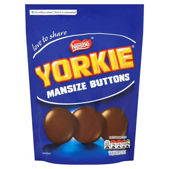 Yorkie Man Size Buttons Pouch 120g
