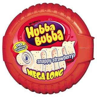 Wrigley's Hubba Bubba Snappy Strawberry Flavour Mega Long 56g