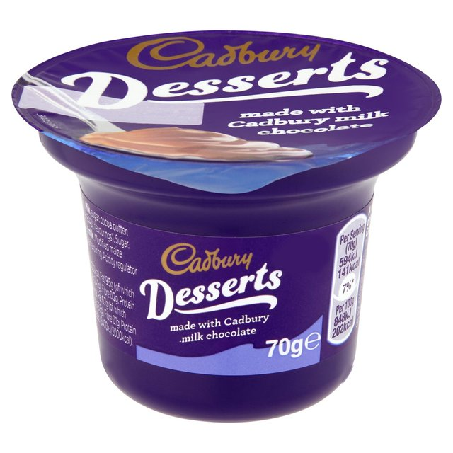 Cadbury Desserts Milk Chocolate 70g