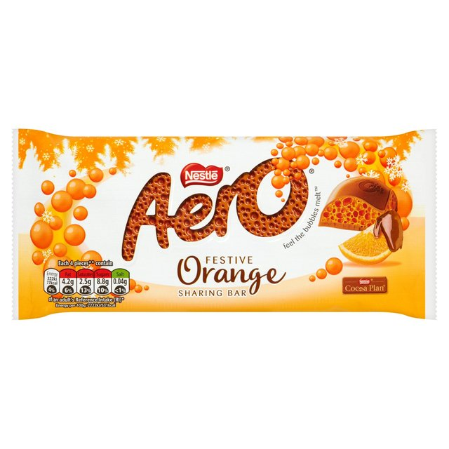 Aero Orange Festive Sharing Bar 100g