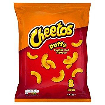 Walkers Cheetos puffs hot 8x13g