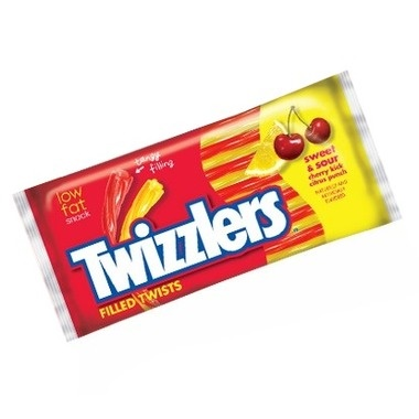 TWIZZLERS SWEET AND SOUR FILLED TWISTS LARGE 311g