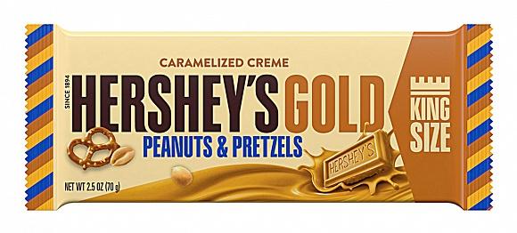 Hershey´s Gold Peanuts & Pretzels Bar 70g